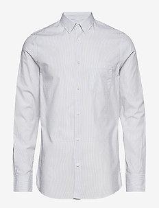 M. Tim Washed Striped Shirt - BLUE/WHITE