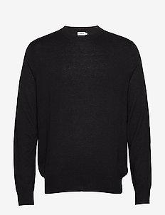 M. Silk Mix Sweater - BLACK