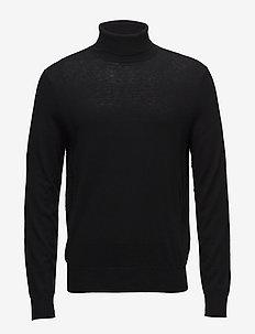 M. Silk Mix Roller Neck Sweate - basic knitwear - black