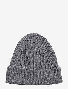 Cashmere Hat - czapki i kapelusze - grey mel.