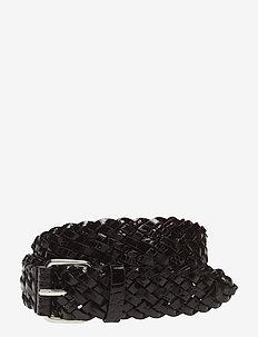 Braided Croco Leather Belt - ceintures - brown croc
