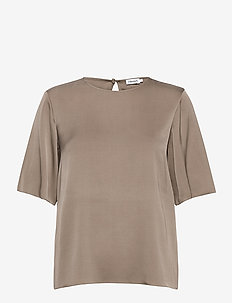 Silk Tee - t-shirty - grey taupe