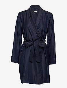 Kimono Shirt Dress - NAVY
