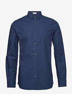 M. Ben Poplin Shirt - FLAG BLUE