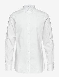 M. Ben Poplin Shirt - WHITE