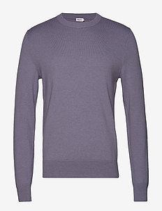 M. Cotton Merino Basic Sweater - BLUESTONE