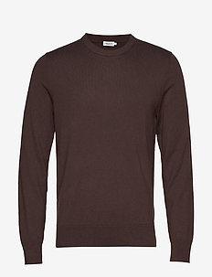 M. Cotton Merino Basic Sweater - DARK MOLE