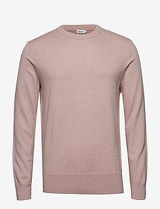 M. Cotton Merino Basic Sweater - FROSTY PIN