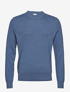 M. Cotton Merino Basic Sweater - PARIS BLUE