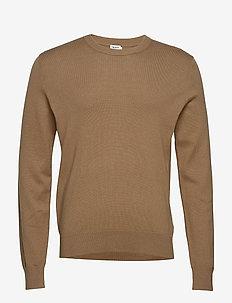 M. Cotton Merino Basic Sweater - TOBACCO