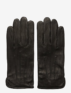 M. Unlined Leather Gloves - BLACK