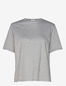 Annie Cotton T-shirt - basic t-shirts - grey mel.