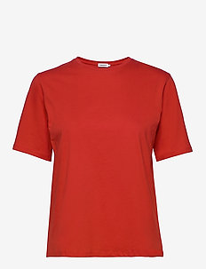 Annie Cotton T-shirt - basic t-shirts - red orange