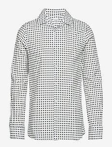 M. Jean-Paul Dot Print Shirt - NAVY/OFF W