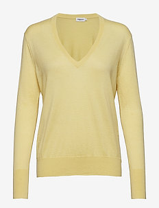 Silk Mix V-Neck Sweater - WAX
