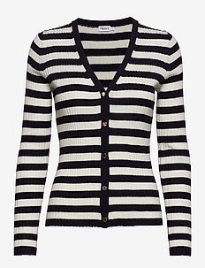 Striped cardigan - NAVY/OFFWH