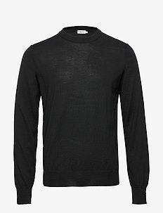 M. Merino Sweater - rund hals - black