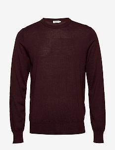 M. Merino Sweater - okrągły dekolt - deep shira