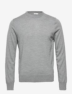 M. Merino Sweater - rund hals - grey mel.
