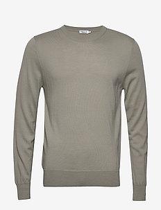 M. Merino Sweater - rund hals - light sage