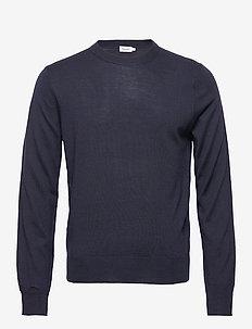 M. Merino Sweater - rund hals - navy
