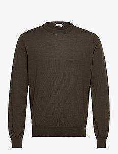 M. Merino Sweater - rundhalsad - pine green