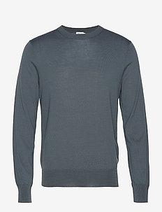 M. Merino Sweater - rund hals - stone gree