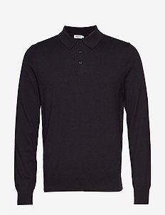 M. Knitted Polo Shirt - INK GREY