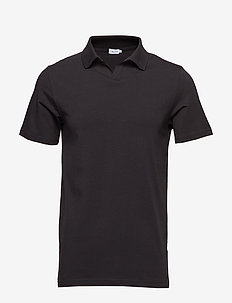M. Lycra Polo T-Shirt - BLACK
