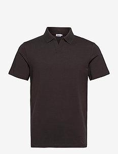 M. Lycra Polo T-Shirt - kortermede - dark mole