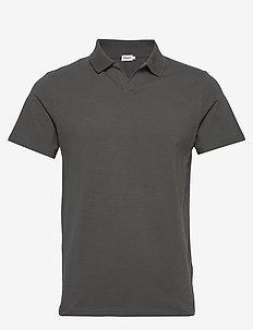 M. Lycra Polo T-Shirt - short-sleeved polos - green grey