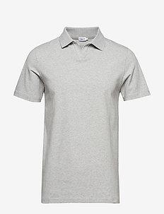 M. Lycra Polo T-Shirt - kortermede - light grey