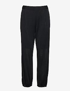 Sheer Crepe Pant - BLACK