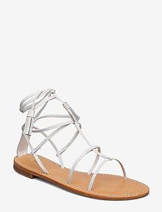 Bella Flat Sandal - WHITE NAPP