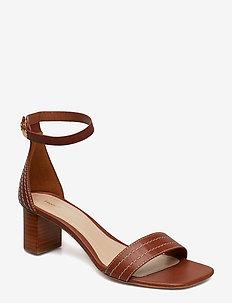Belinda Mid Heel Sandal - AMBER
