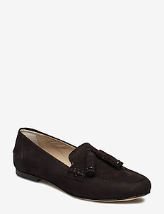 Leslie Nubuck Loafer - BLACK NUBU