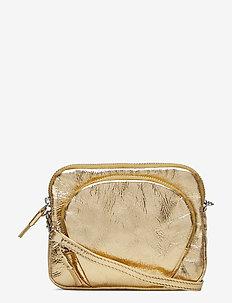 Mini Leather Bag - skuldervesker - gold