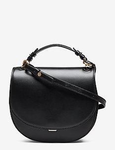 Harley Saddle Leather Bag - BLACK