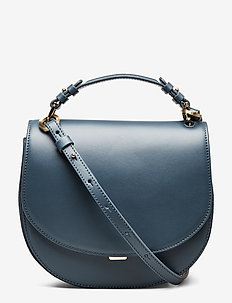 Harley Saddle Leather Bag - BLUE SLATE