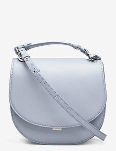 Harley Saddle Leather Bag - top handle - ice blue
