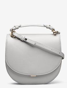 Harley Saddle Leather Bag - top handle - sterling g