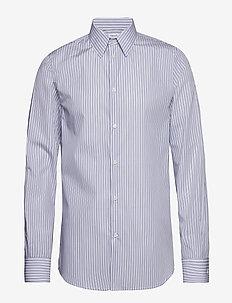 M. James Striped Shirt - BOLD BLUE/