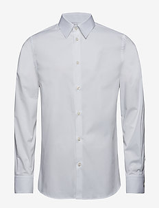 M. James Stretch Shirt - formele overhemden - white
