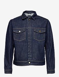M. Leo Raw Denim Jacket - farkkutakit - dark blue