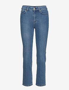 Stella Washed Jean - straight jeans - mid blue