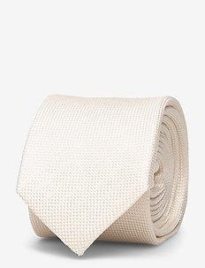 M. Silk Oxford Tie - OFF-WHITE