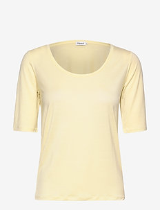 Tencel Scoop-neck Tee - basic t-shirts - faded yell