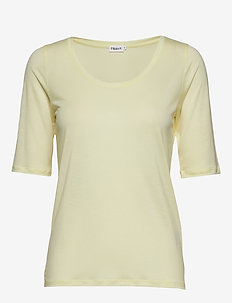 Tencel Scoop-neck Tee - PALE LIME