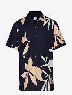 M. Don Sandhamn Print Shirt - overhemden korte mouwen - navy print