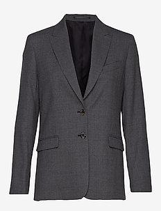 Sonia Wool Crepe Blazer - oversized blazers - mid grey m